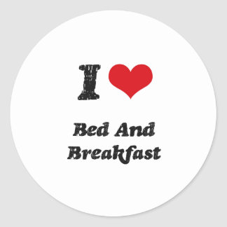 I Love BED AND BREAKFAST Sticker
