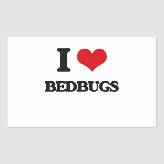 I Love Bedbugs Rectangle Stickers