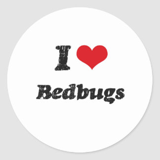 I Love BEDBUGS Round Sticker