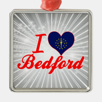I Love Bedford, Indiana Christmas Tree Ornament