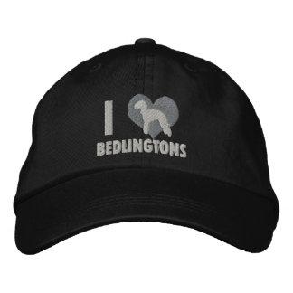 I Love Bedlingtons Embroidered Hat (Monochrome)