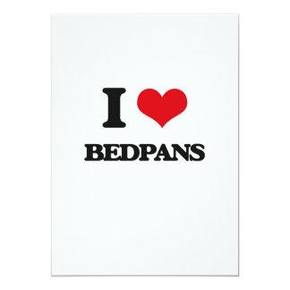 I Love Bedpans 5x7 Paper Invitation Card