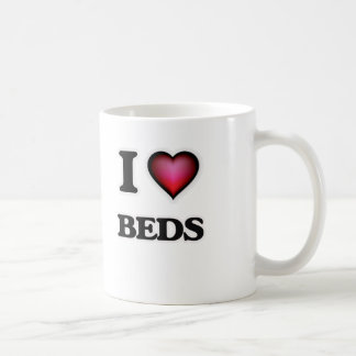 I Love Beds Coffee Mug