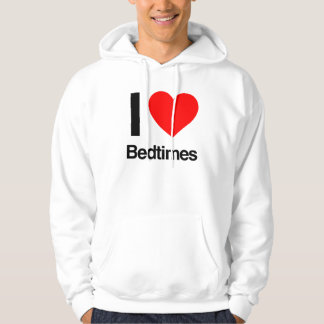 i love bedtimes hooded sweatshirt