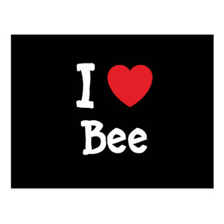 I love Bee heart T-Shirt Post Cards