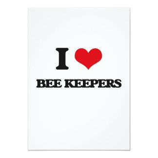 "I love Bee Keepers 5"" X 7"" Invitation Card"