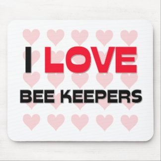 I LOVE BEE KEEPERS MOUSE MAT