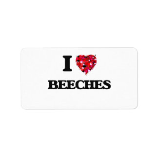I Love Beeches Address Label