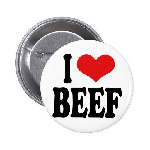 I Love Beef 2 Inch Round Button