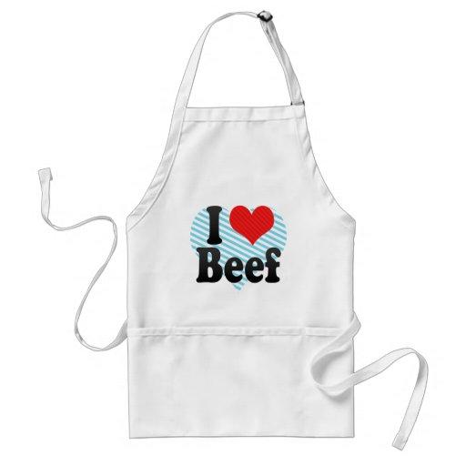 I Love Beef Adult Apron