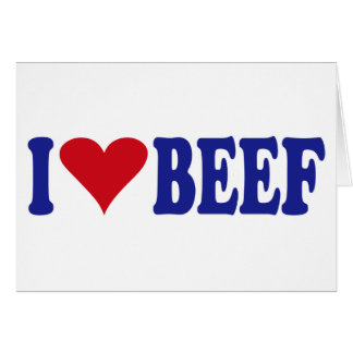 I Love Beef Cards