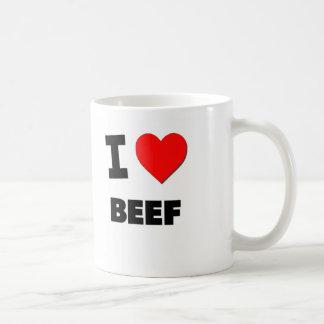 I Love Beef Classic White Coffee Mug