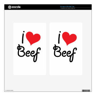 I Love Beef Decal For Kindle Fire