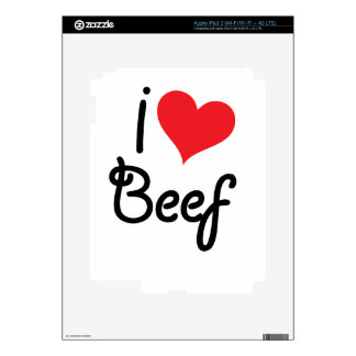 I Love Beef Decals For iPad 3