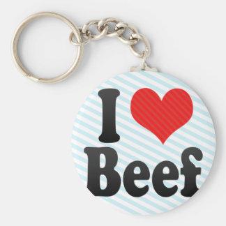 I Love Beef Key Chain