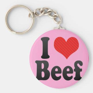 I Love Beef Key Chains