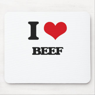 I Love Beef Mouse Pads