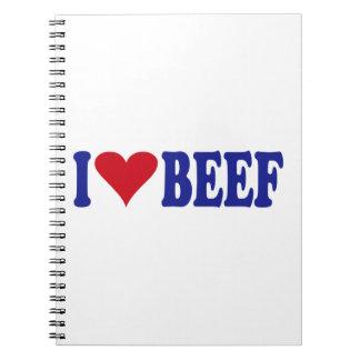 I Love Beef Notebook