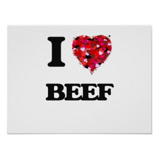 I Love Beef Poster