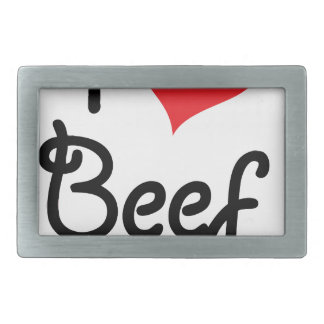 I Love Beef Rectangular Belt Buckle