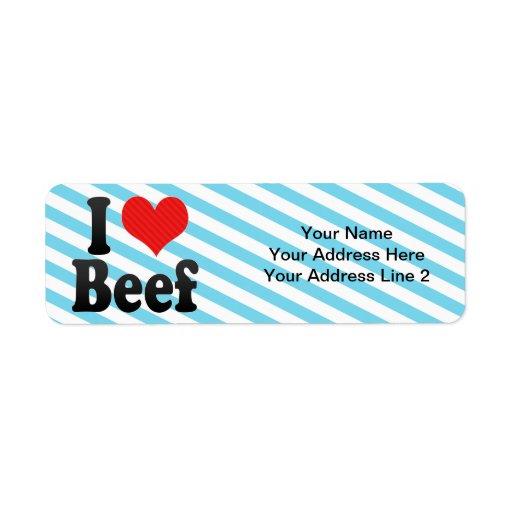 I Love Beef Return Address Label