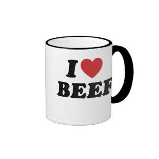 I Love BEEF Ringer Mug