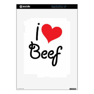 I Love Beef Skins For The iPad 2