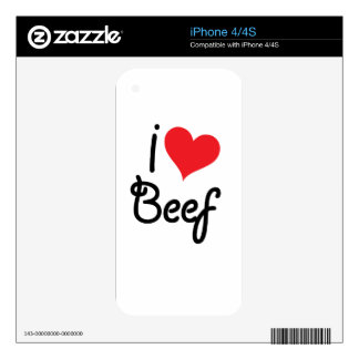 I Love Beef Skins For The iPhone 4