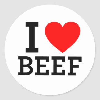 I Love Beef Stickers