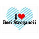 I Love Beef Stroganoff Postcard