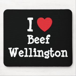 I love Beef Wellington heart T-Shirt Mouse Mat