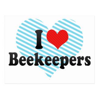 I Love Beekeepers Post Card