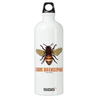 I Love Beekeeping (Bee) Aluminum Water Bottle