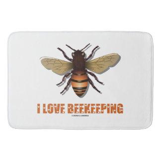 I Love Beekeeping Bee Attitude Apiarist Bath Mat