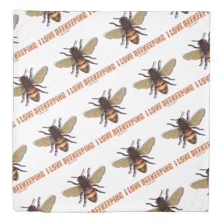 I Love Beekeeping Bee Attitude Apiarist Duvet Cover