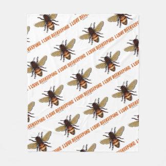 I Love Beekeeping Bee Attitude Apiarist Fleece Blanket