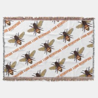 I Love Beekeeping Bee Attitude Apiarist Throw