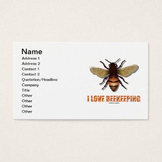 I Love Beekeeping (Bee) Business Card