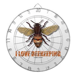 I Love Beekeeping (Bee) Dartboard With Darts