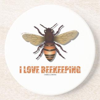 I Love Beekeeping (Bee) Drink Coaster