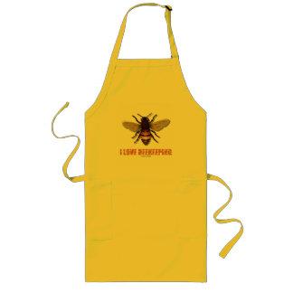 I Love Beekeeping (Bee) Long Apron