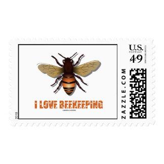 I Love Beekeeping (Bee) Postage