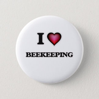 I Love Beekeeping Button