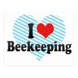 I Love Beekeeping Postcard