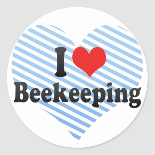 I Love Beekeeping Stickers