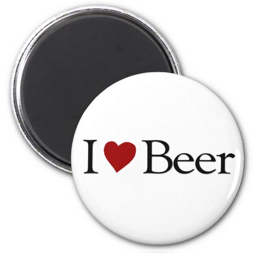 I Love Beer 2 Inch Round Magnet