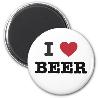 i love Beer 2 Inch Round Magnet