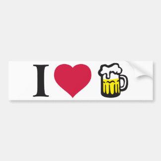 I love beer 2C Car Bumper Sticker