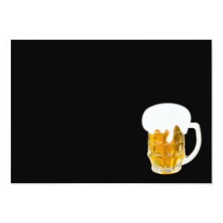 I love beer 5x7 paper invitation card