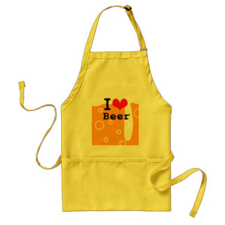 I Love Beer Adult Apron